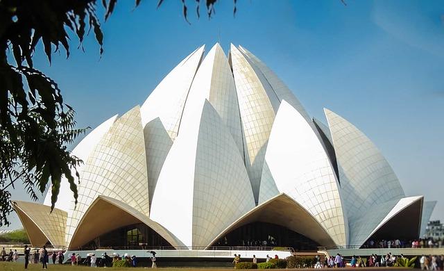 Templo de loto en Nueva Delhi